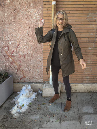 Remants of the first snow in Rome in six years...Denise winds up...