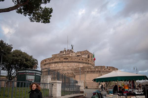 Castel Sant'Angelo greets you at the end of Via della Conciliazione