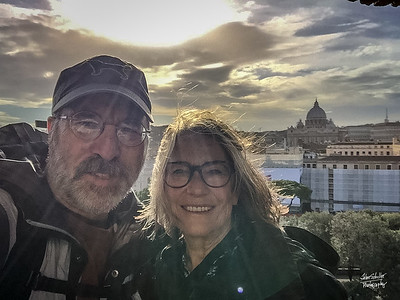 Selfie with St. Peter's Basilica int he background