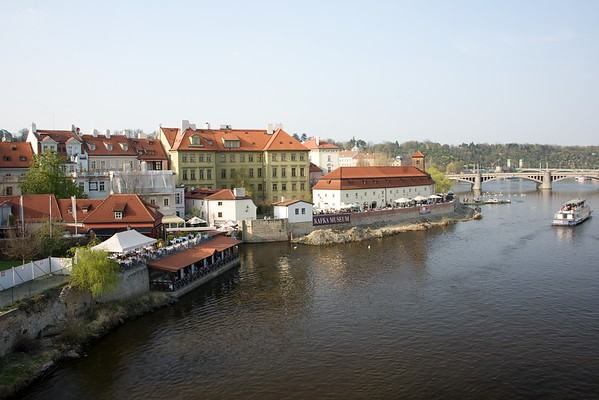 Just over the Charles Bridge - on the way to the Prague Castle