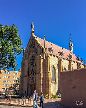 Loretto Church.  Shot in Santa Fe, NM on October 3, 2017 © John Schiller Photography
