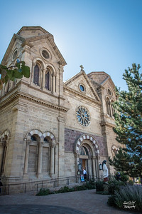 Cathdral Basilica of St Francis of Assissi.  Shot in Santa Fe, NM on October 3, 2017 © John Schiller Photography