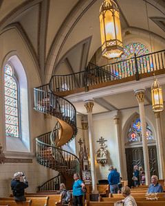 Famous staircase in the Loretto Church.  Shot in Santa Fe, NM on October 3, 2017 © John Schiller Photography