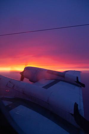Sunrise off the New Jersey coastline