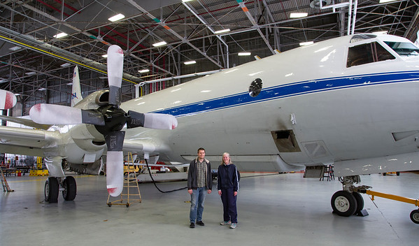 Nathan and Claire with the NASA P-3