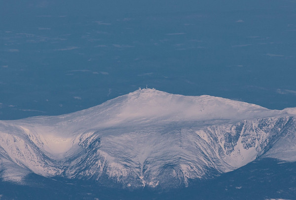 A close-up of the Mount Washington Observatory