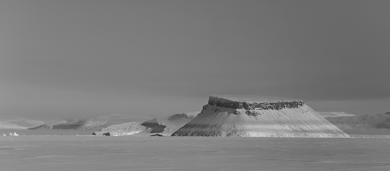 Mount Dundas from frozen over North Star Bay