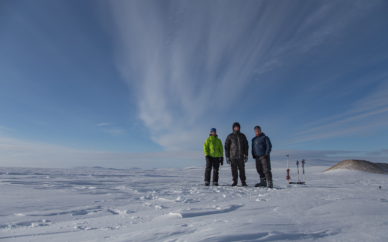 Adam, Nathan and I on the Greenland ice sheet