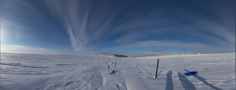 Panorama of our view down the ice sheet