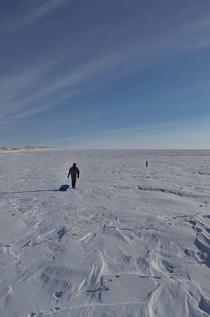 Nathan & Adam, headed further up the ice sheet