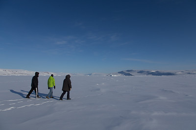Headed back across the sea ice to the car...