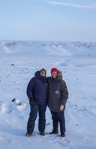 Eugenia and Claire out near the ice sheet