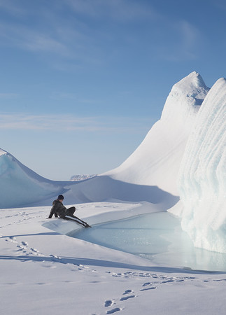 """Nathan is enjoying his time at this """"iceberg beach"""" too literally..."""