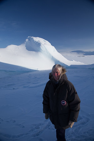 Claire in the middle of the second iceberg
