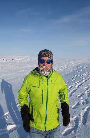 Plenty of snow on that beard!