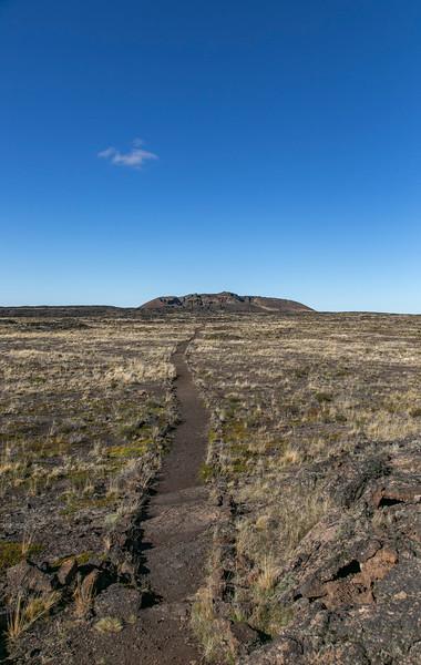 The path to crater Morada del Diablo