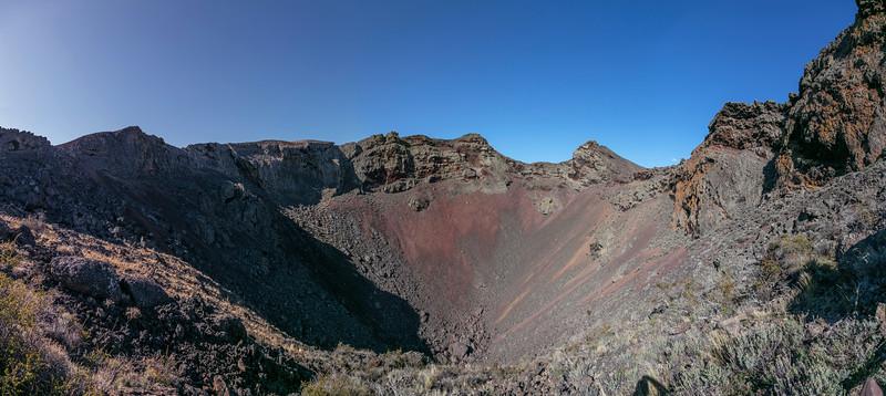Looking down into crater Morada del Diablo