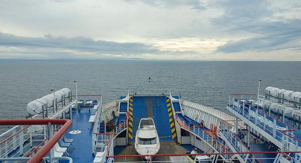 Heading up the Strait of Magellan