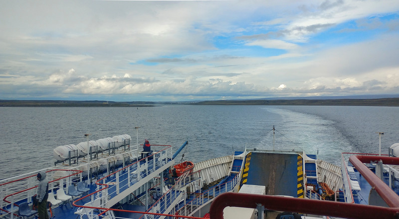 Leaving Porvenir Bay and now in the Strait of Magellan
