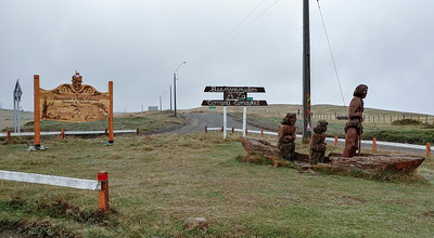 Driving by the little town of Cameron, about as far south as I got on Tierra del Fuego this trip