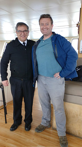 A photo with the captain of the ferry