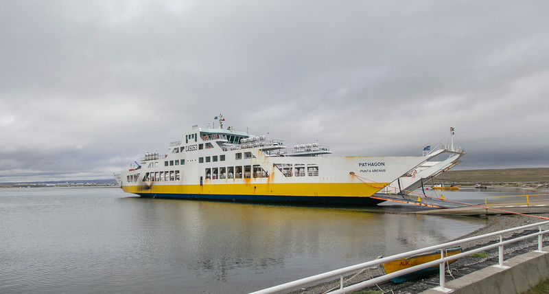 The ferry that will be taking me from Porvenir to Punta Arenas