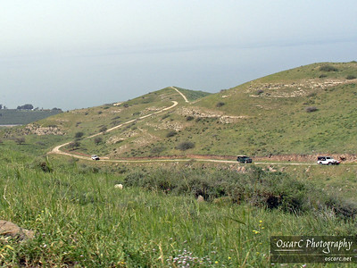 Riding up the Golan