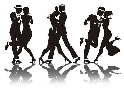 Man and woman dance at a party