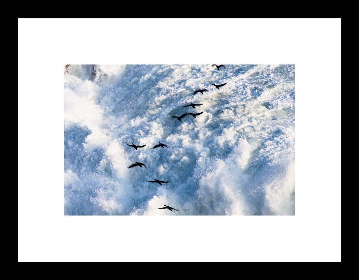 Foto de 16.5 x 25 cmts con marco de madera lacada de 2 cmts de ancho, y passepartout de 5 cmts.