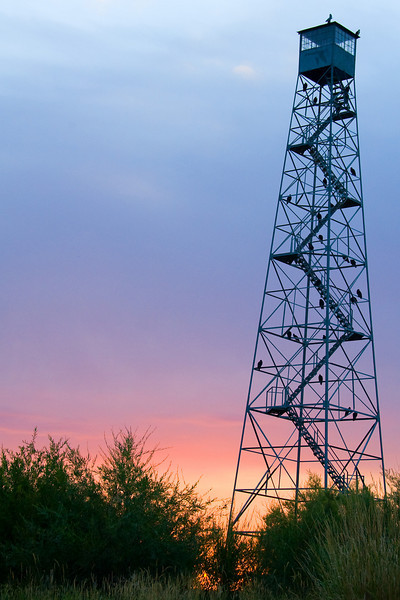 Same tower at sunrise.