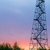 Same tower at sunrise.