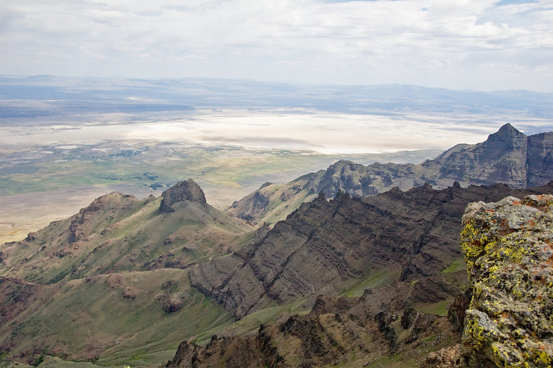 The Alvord desert from the top of the Steens (9700 feet).
