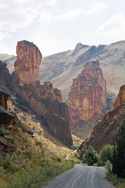 Leslie Gulch.  What should be a national monument is an obscure, seldom travelled dirt road.