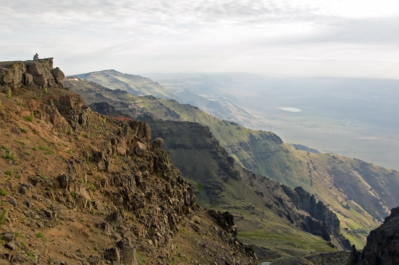 Top of the Steens looking NE at sunrise.  The small lake is Mann Lake.  I will be there tommorrow.
