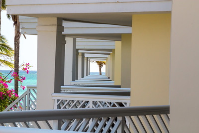 View from our hotel room.  side view.  Lucayan Resort, Freeport Bahamas.