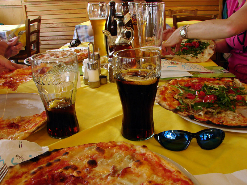 went out for our first italian pizza on our rest day. and cokes. i had more cokes over there than i've had in years combined. nice after/during rides though!