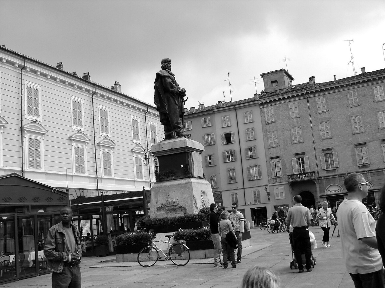 A main square in Parma. this was after our cycling camp finished and we were heading west.