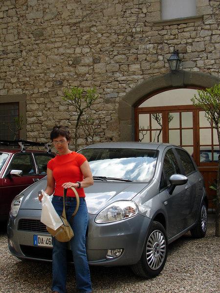 Our little Fiat Punto. Great little car!