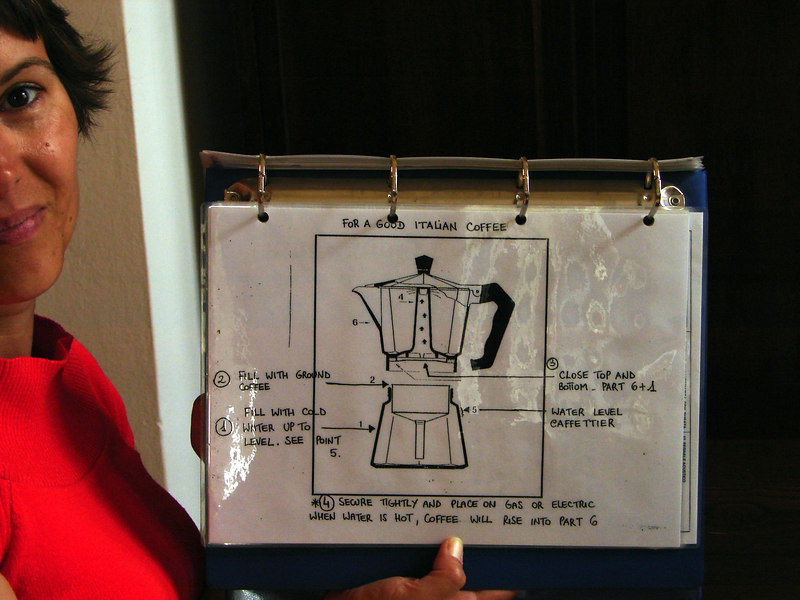 Directions for coffee...sweet. Nothing in there about using a gas stove though....see coffee pot picture below.