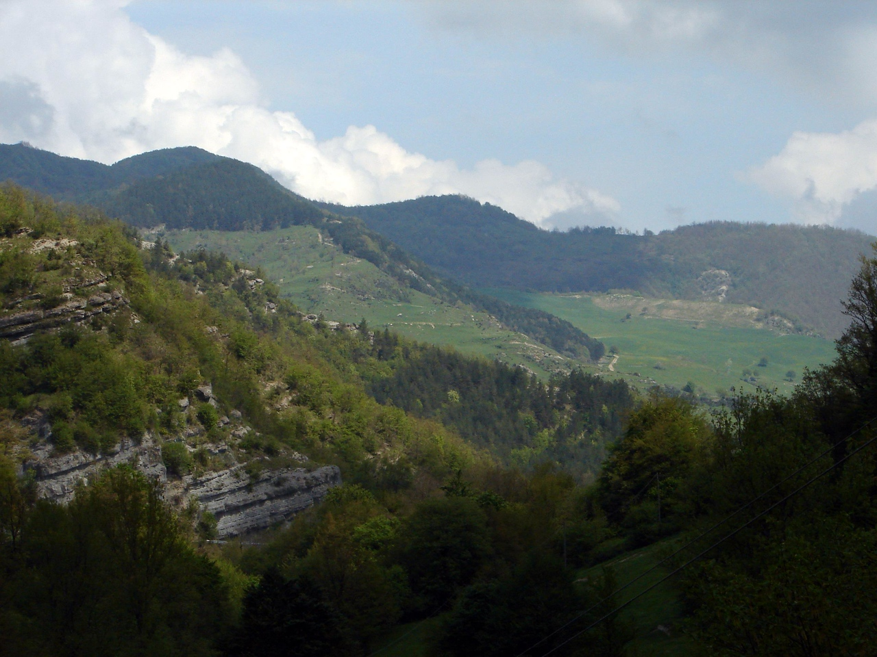 Don likes to stop on mountain side roads to take pictures. I am having a heart attack in the car. Nice view, though :)