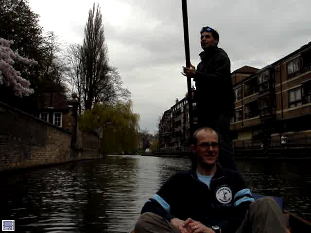 "Don ""punting"" for the first time."