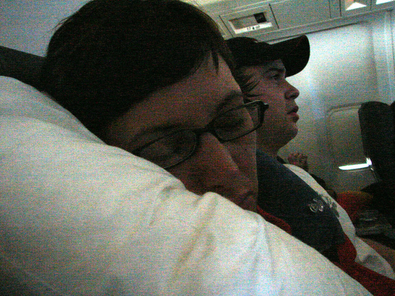 Shhhh. Some of us didn't stay awake the whole flight....yet some of us did.