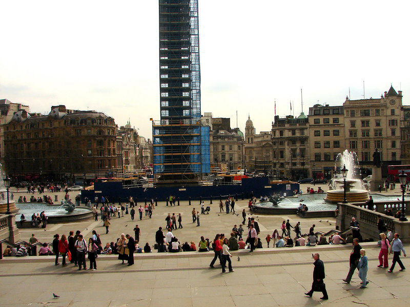Trafalger Square from steps of National Gallery