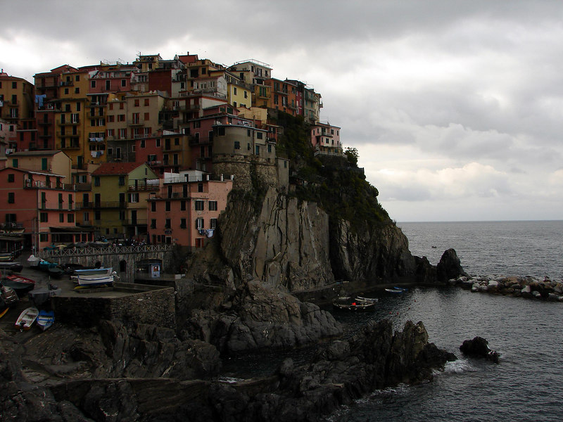 The village on Manarola, the neighbour to Riomaggorie where we were staying.