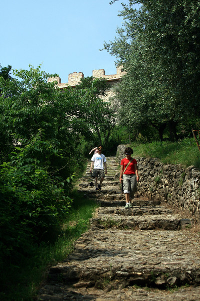 a recent trail built to walk down from the castle to the city.
