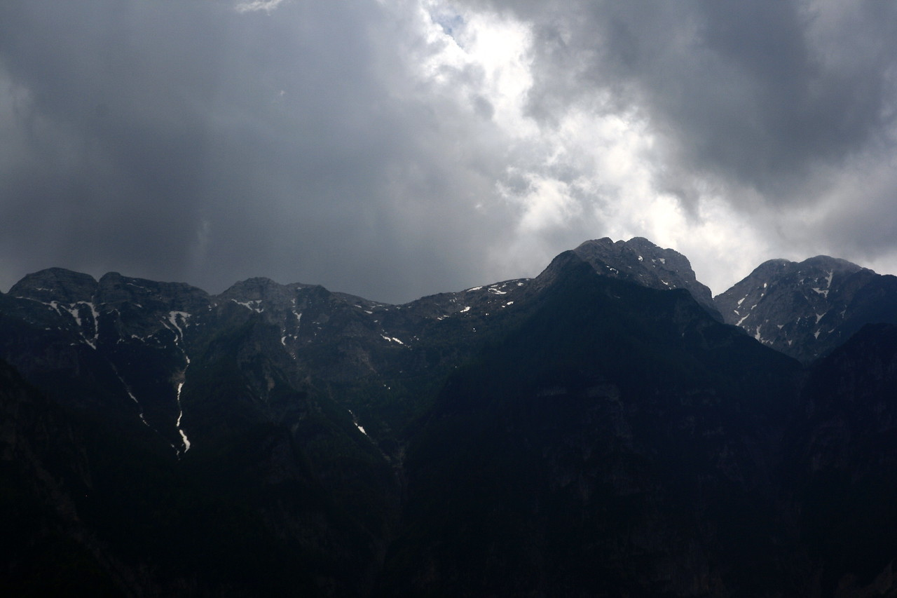 Nearing Trento the mountains got quite real.