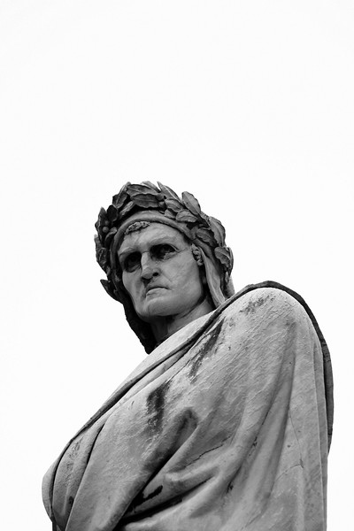 Fantastic statue of Dante.
