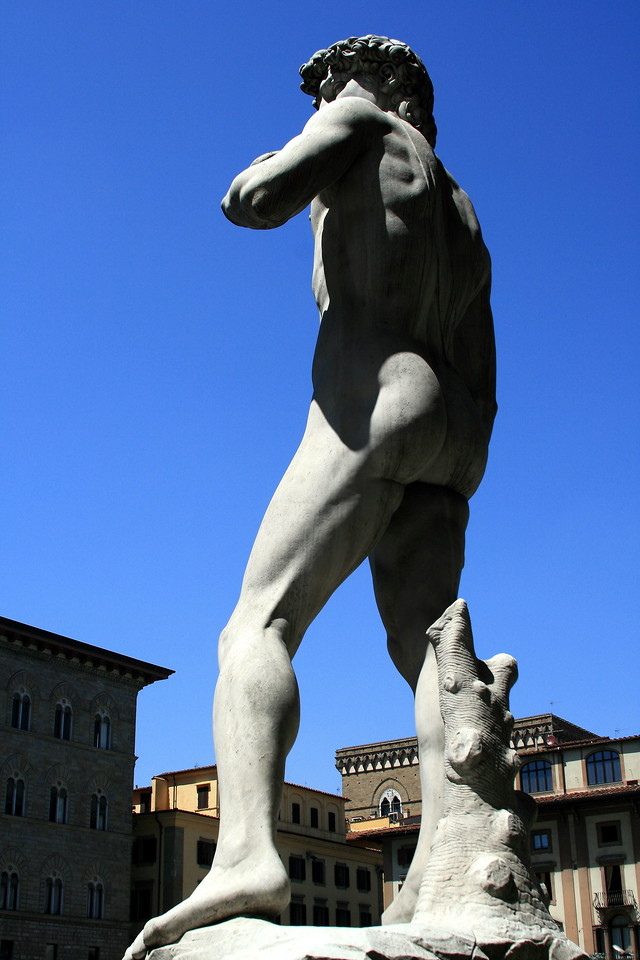 Now in Firenze. David from the rear. 7302