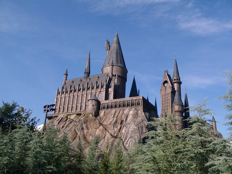 Castle at Harry Potter attraction