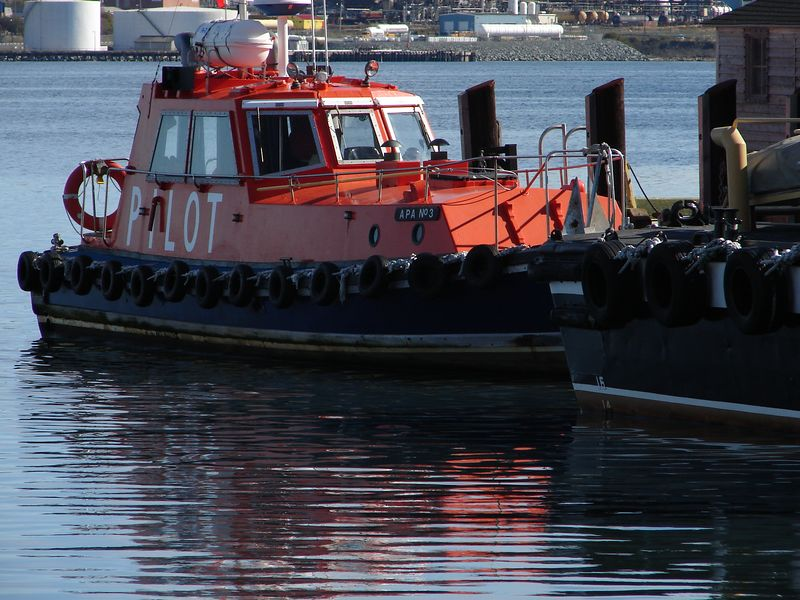 Tugboat in Red